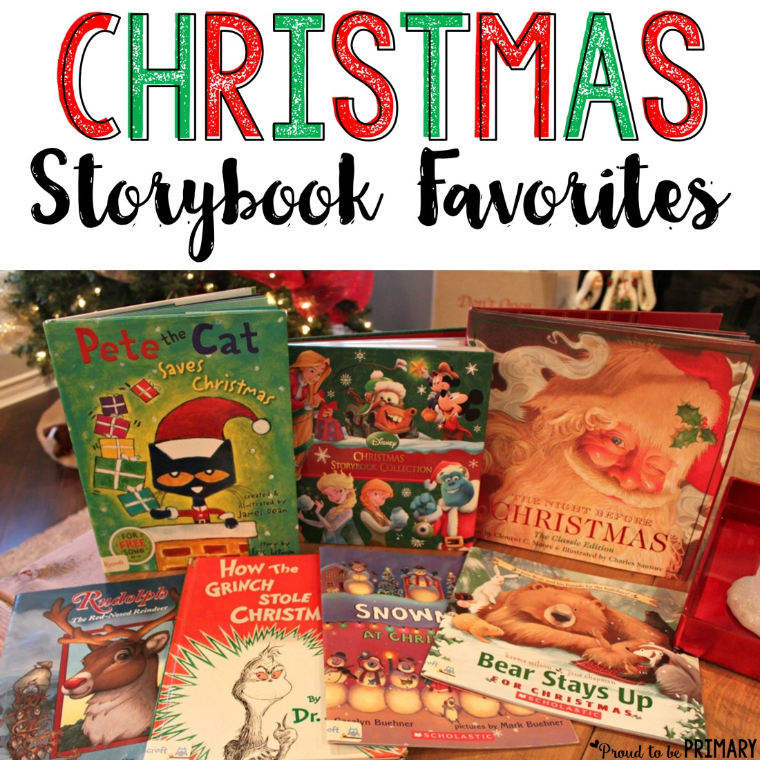 Christmas storybook favorites - A collection of storybooks that are perfect for Christmas time. Build enjoyment and excitement by reading a different book every night and place them in a special box to open.