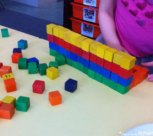 100 Days of School Activities - build with blocks
