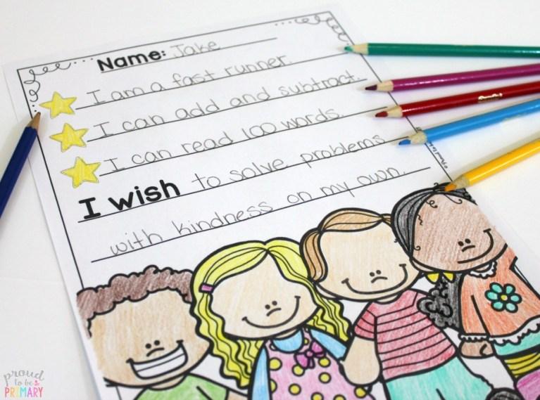 goal setting for kids - i wish