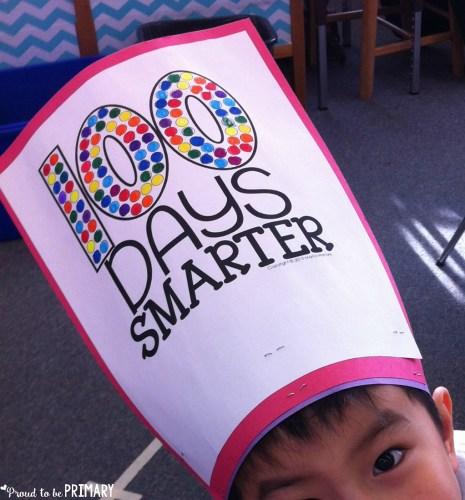 100 days smarter hat activity from Kinder Craze