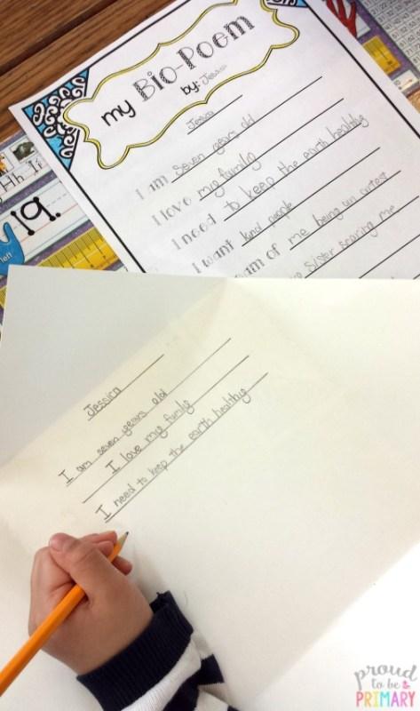 poetry writing for kids - bio poem
