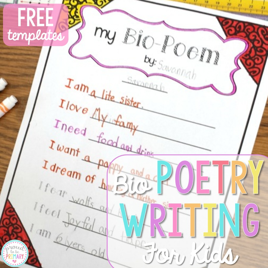 Poetry Writing for Kids: Bio Poems that Kids Love – Proud to be