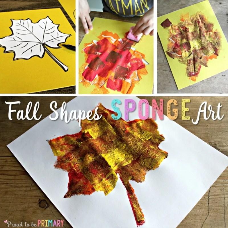 Fall Shapes Sponge Art