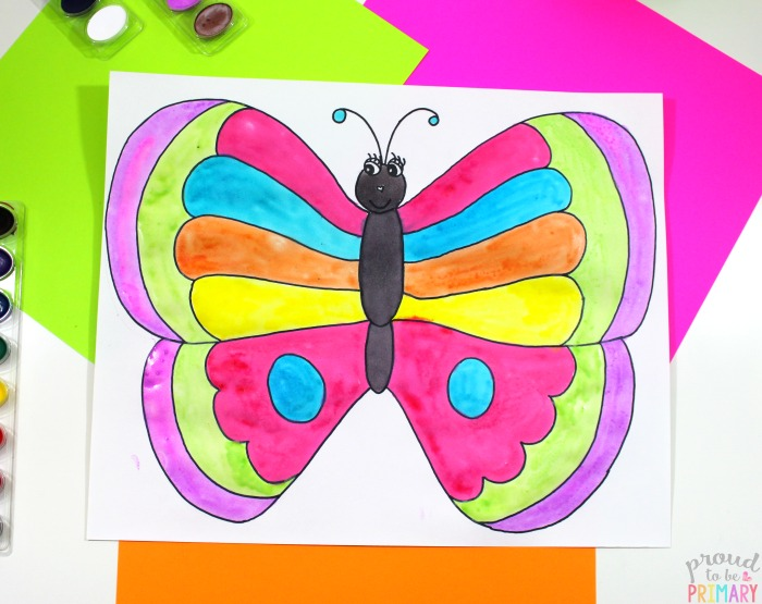how to draw a butterfly - directed drawing steps