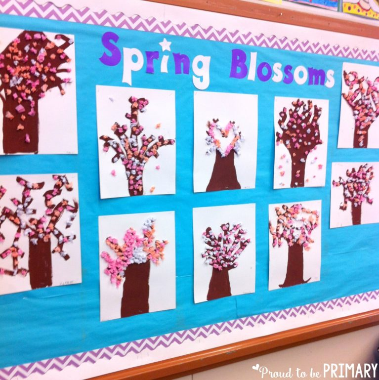 spring-themed activities for the classroom - cherry blossoms