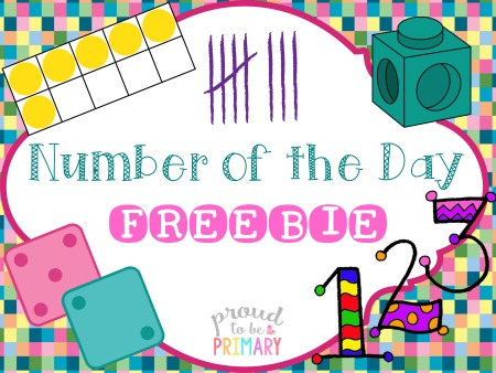 Free number of the day printable resource by Proud to be Primary
