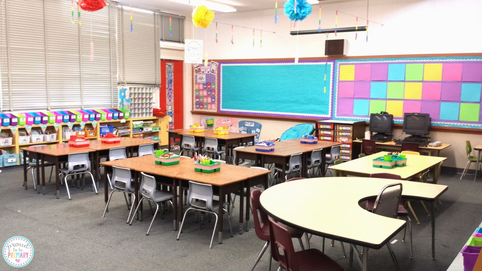 first week of school clean and tidy classroom tables