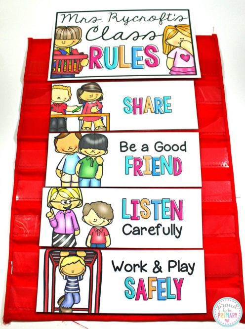 class rules display first week of school