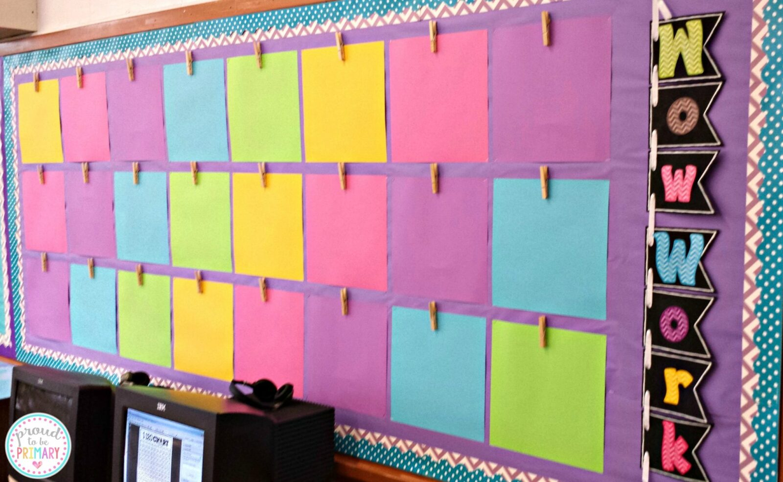 work display bulletin board ready for the first week of school