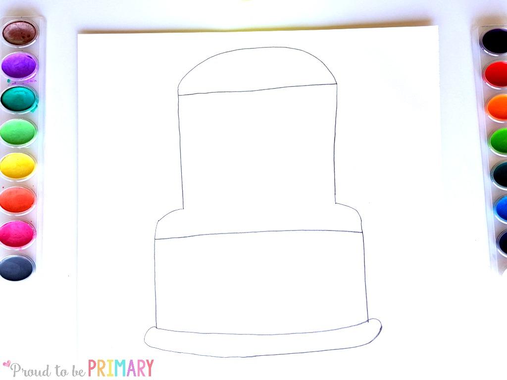 school bus drawing step 2