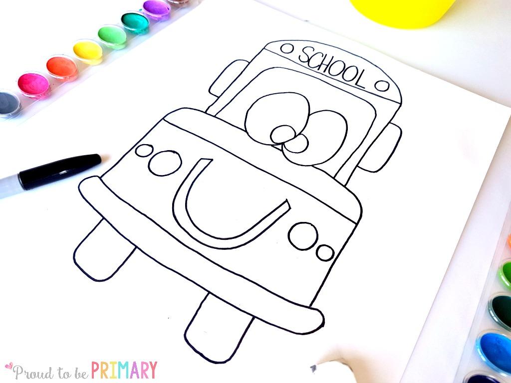 School bus drawing step 5