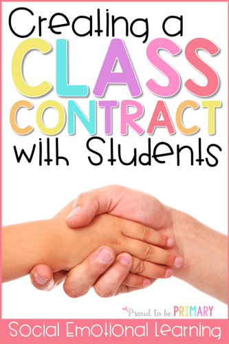 setting classroom expectations with a class contract