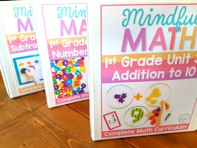 mindful math program binder covers