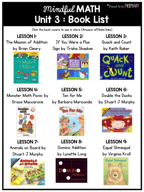 mindful math program book list