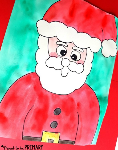 Santa Claus Drawing step 7