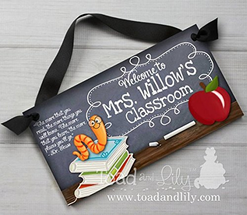 Holiday gifts for teachers - personalized door sign
