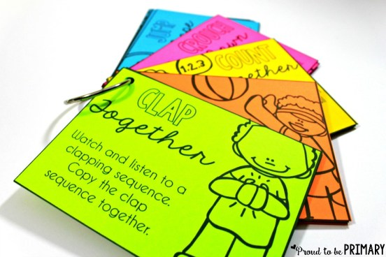 class routine - activity task cards