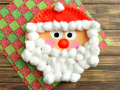 santa christmas paper plate craft a cultivated nest
