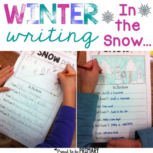 snow poetry winter writing lesson