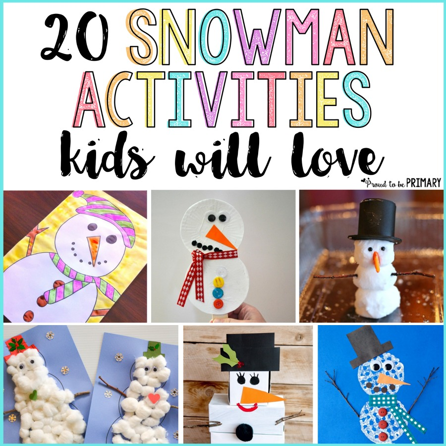 20 Snowman Craft Ideas That Kids And Teachers Will Love Proud To Be Primary