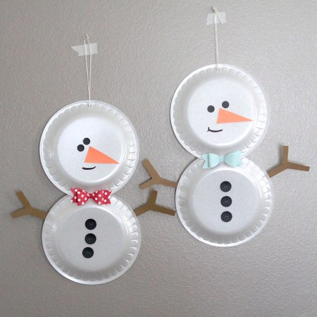 It's Always Autumn - Simple Foam Plate Snowman