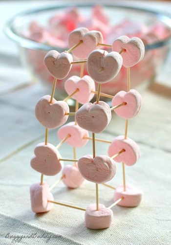 Buggy and Buddy - Heart Marshmallow Toothpick Structures