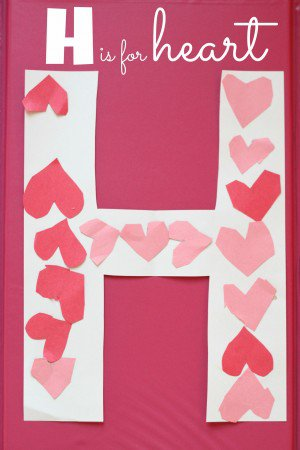 I Can Teach My Child - H is For Heart Alphabet Craft