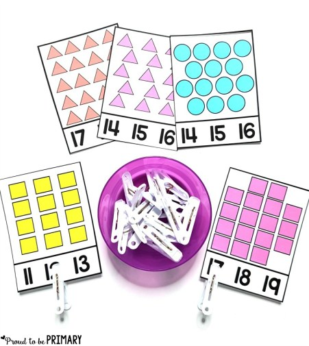 clip card numbers for building number sense to 20