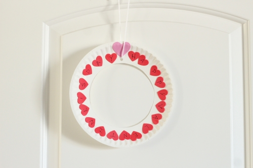 Mom Inspired Life - Valentines Wreath Alphabet Craft