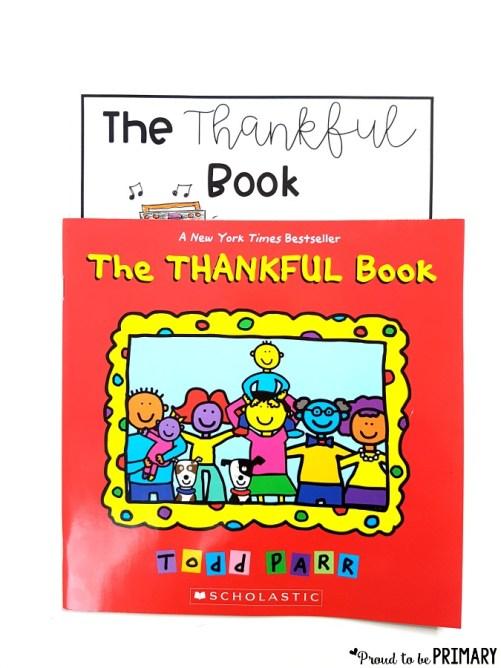 gratitude lesson ideas - the thankful book