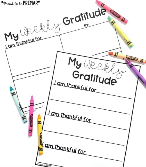gratitude lesson ideas - gratitude journal