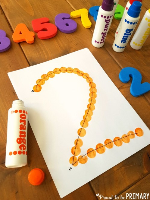 dot numbers to practice formation and building number sense to 20