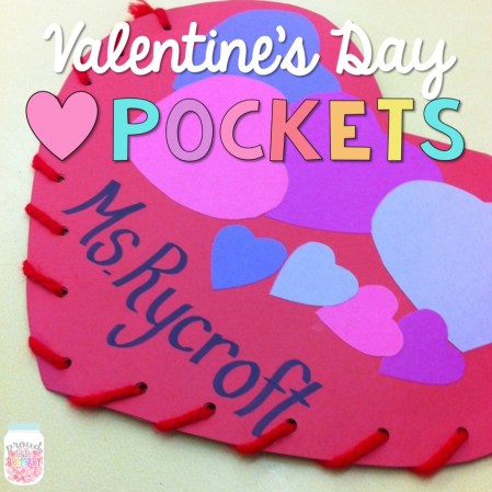 Proud to Be Primary - Valentines Day Heart Pockets