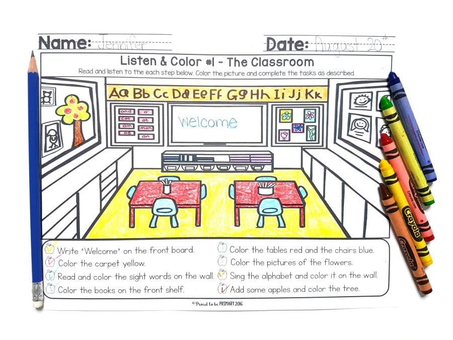 Listening Activities for Kids: listening mats