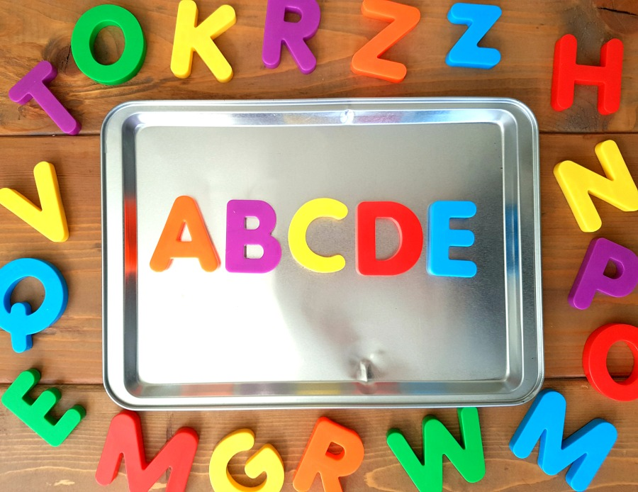 letter recognition - magnetic letters