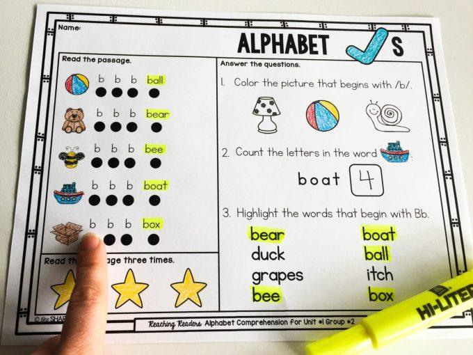 letter recognition - letter mats