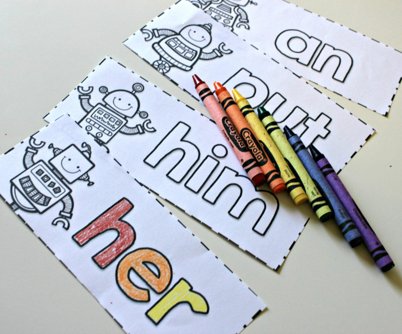 teaching sight words - coloring