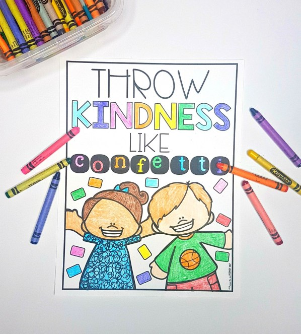 kindness activities - throw kindness like confetti