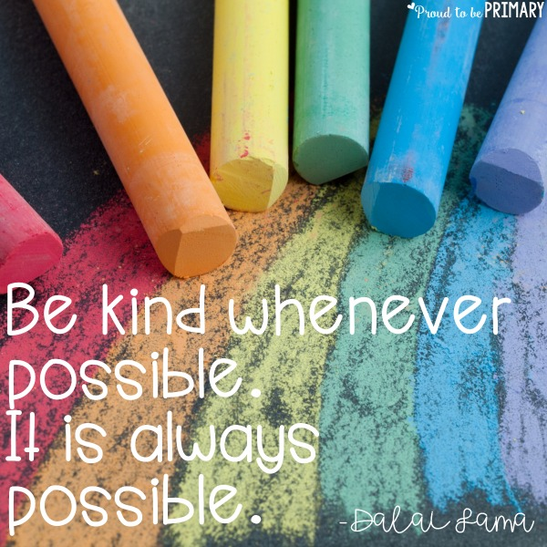 kindness activities - quote - be kind whenever possible