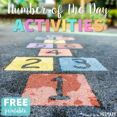 number of the day activities - free printable
