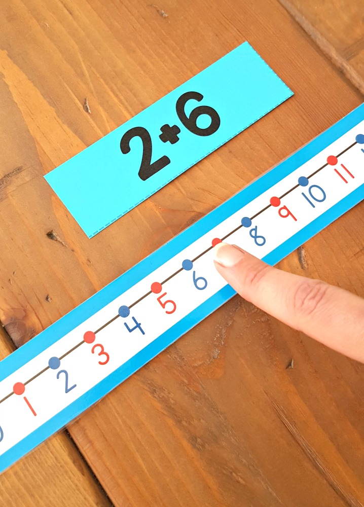 addition and subtraction activities for kids - number line