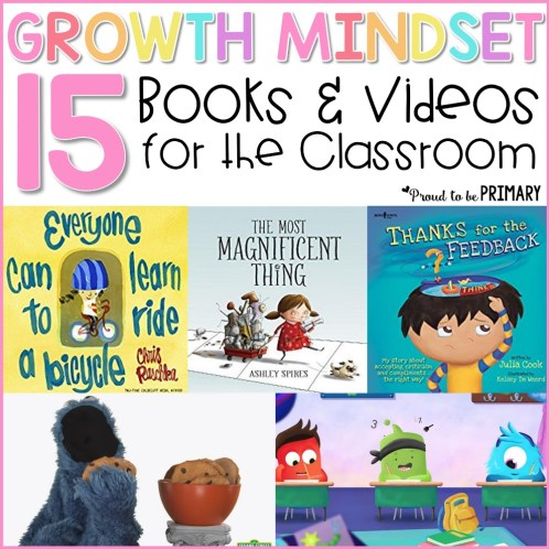 15 growth mindset books and videos for the classroom
