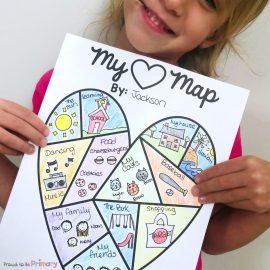 My heart Map Writing Activities for Kids