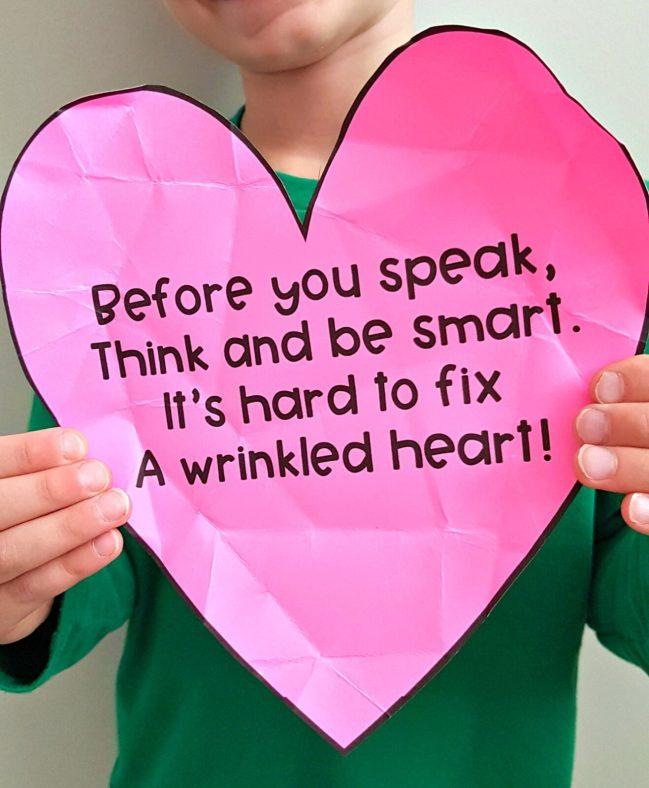 teaching empathy - a wrinkled heart poem