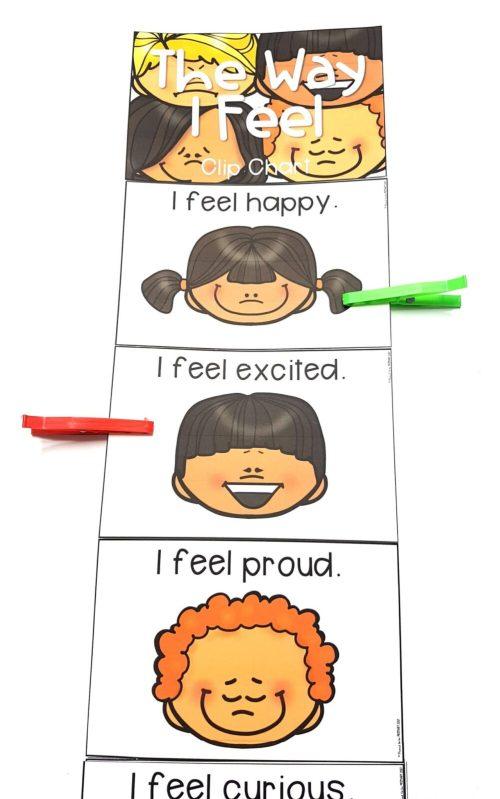 emotional skills - the way I feel clip chart