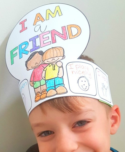 children's books about friendship - I am a friend hat craft