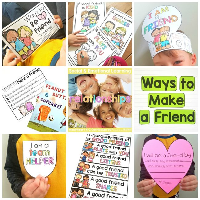 friendship unit lessons and activities in the classroom
