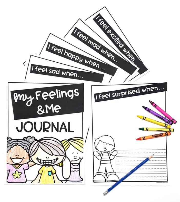 emotional skills - me and my feelings journal