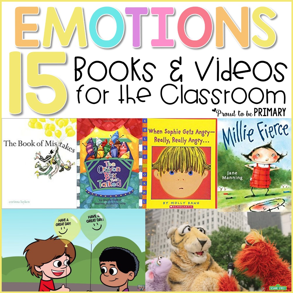 emotional skills - emotions books and videos for the classroom