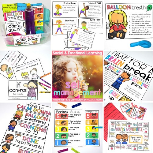 self-regulation social emotional learning resource for k-2 classroom teachers